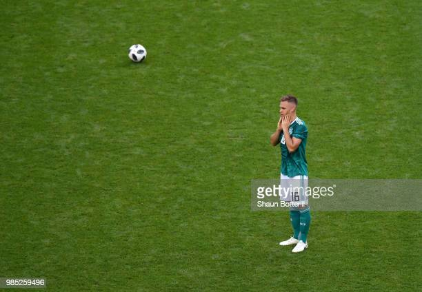Joshua Kimmich of Germany looks dejected following his sides defeat inthe 2018 FIFA World Cup Russia group F match between Korea Republic and Germany...