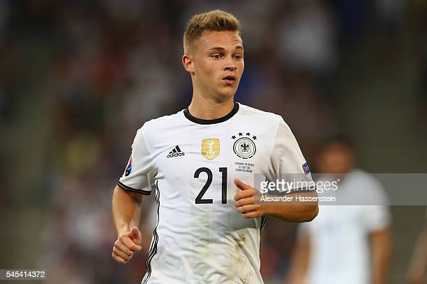 Joshua Kimmich of Germany looks on during the UEFA EURO 2016 semi final match between Germany and France at Stade Velodrome on July 7 2016 in...