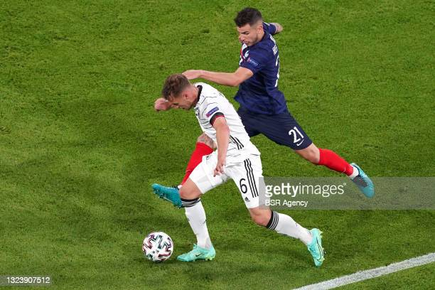 Joshua Kimmich of Germany, Lucas Hernandez of France during the UEFA Euro 2020 match between France and Germany at Allianz Arena on June 15, 2021 in...