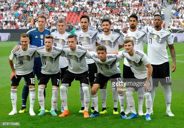 Joshua Kimmich of Germany Marco Reus of Germany Julian Draxler of Germany Thomas Mueller of Germany Timo Werner of Germany Goalkeeper Manuel Neuer of...