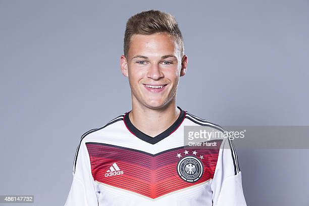 Joshua Kimmich of Germany poses during the team presentation of Germany U21on August 31 2015 in Hamburg Germany