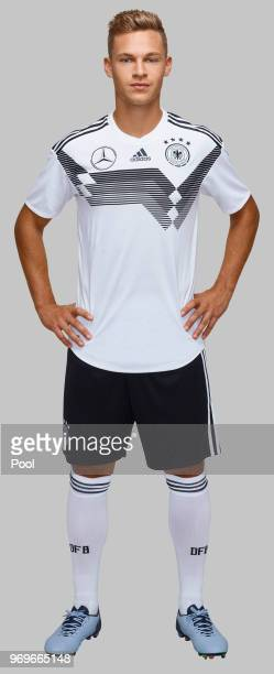 Joshua Kimmich of Germany poses for a photo at Eppan training ground on June 05 2018 in Eppan Italy
