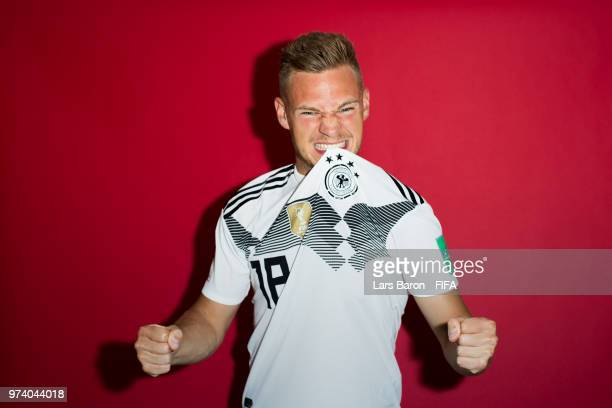 Joshua Kimmich of Germany poses for a portrait during the official FIFA World Cup 2018 portrait session on June 13 2018 in Moscow Russia