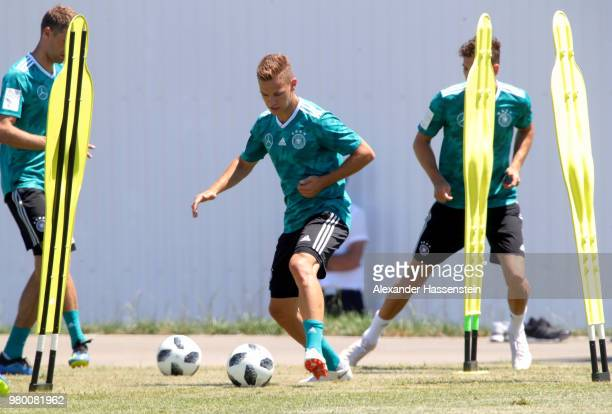 Joshua Kimmich of Germany trains to the Germany Training session at Park Arena training ground on June 21 2018 in Sochi Russia