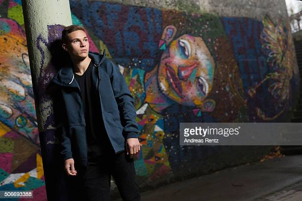 Joshua Kimmich player of football club Bayern Munich poses for a portrait on December 1 2015 in Munich Germany