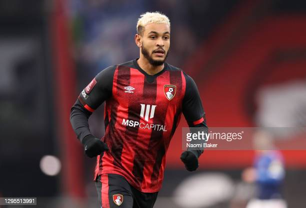 Joshua King of AFC Bournemouth in action during the FA Cup Third Round match between Oldham Athletic and AFC Bournemouth at Vitality Stadium on...