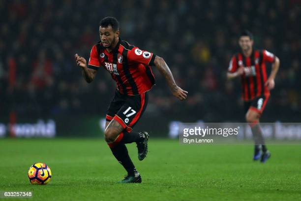 Joshua King of AFC Bournemouth in action during the Premier League match between AFC Bournemouth and Crystal Palace at Vitality Stadium on January 31...