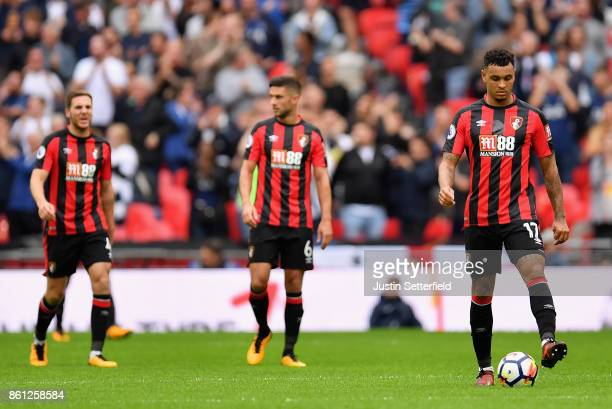 Joshua King of AFC Bournemouth is dejected during the Premier League match between Tottenham Hotspur and AFC Bournemouth at Wembley Stadium on...