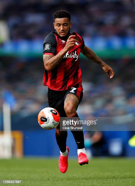 Joshua King of AFC Bournemouth runs with the ball during the Premier League match between Everton FC and AFC Bournemouth at Goodison Park on July 26...