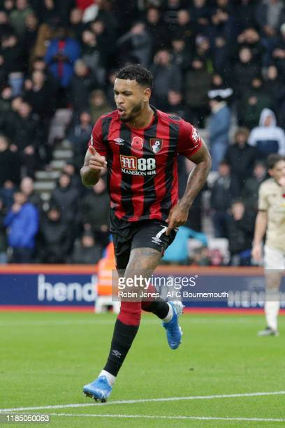 Joshua King of Bournemouth celebrates after he scores a goal to make it 10 during the Premier League match between AFC Bournemouth and Manchester...