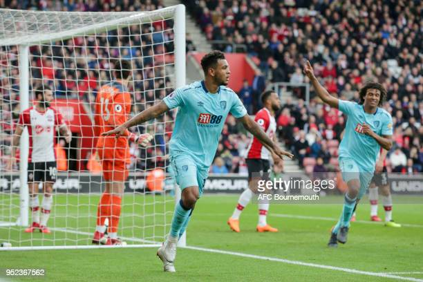 Joshua King of Bournemouth celebrates after he scores a goal to make it 11 during the Premier League match between Southampton and AFC Bournemouth at...