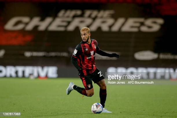 Joshua King of Bournemouth during the Sky Bet Championship match between AFC Bournemouth and Bristol City at Vitality Stadium on October 28 2020 in...