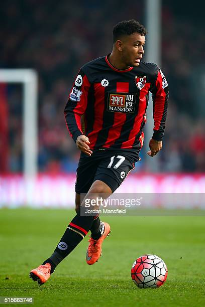 Joshua King of Bournemouth in action during the Barclays Premier League match between AFC Bournemouth and Swansea City at Vitality Stadium on March...