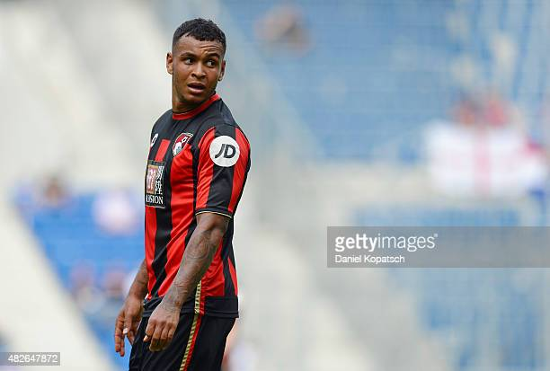 Joshua King of Bournemouth reacts during the friendly match between 1899 Hoffenheim and AFC Bournemouth at Wirsol RheinNeckarArena on August 1 2015...