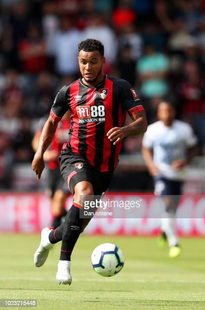 Joshua King of Bournemouth runs with the ball during the Premier League match between AFC Bournemouth and Everton FC at Vitality Stadium on August 25...