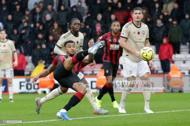 Joshua King of Bournemouth scores a goal to make it 10 during the Premier League match between AFC Bournemouth and Manchester United at Vitality...