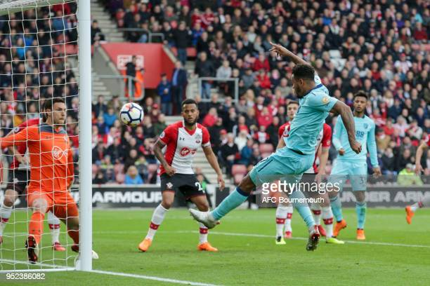Joshua King of Bournemouth scores a goal to make it 11 during the Premier League match between Southampton and AFC Bournemouth at St Mary's Stadium...