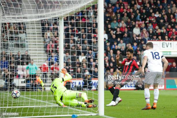 Joshua King of Bournemouth scores a goal to make it 22 during the Premier League match between AFC Bournemouth and Crystal Palace at Vitality Stadium...