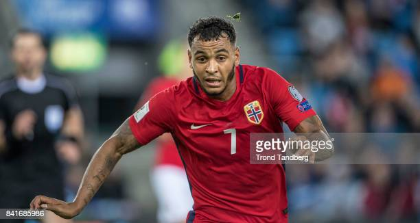 Joshua King of Norway during the FIFA 2018 World Cup Qualifier between Norway and Azerbaijan at Ullevaal Stadion on September 1 2017 in Oslo