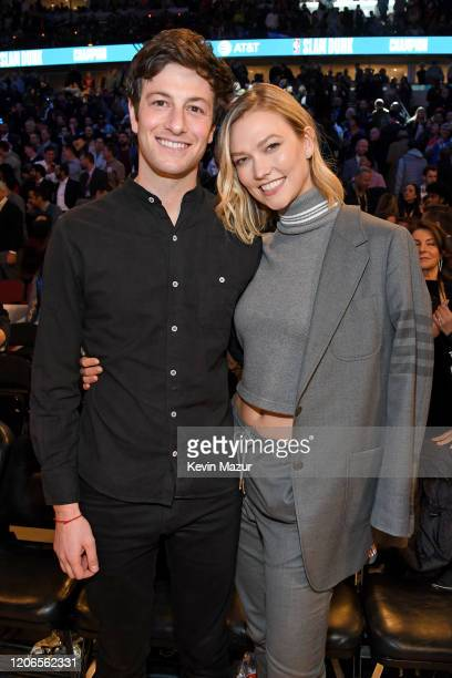 Joshua Kushner and Karlie Kloss attend 2020 State Farm AllStar Saturday Night at United Center on February 15 2020 in Chicago Illinois