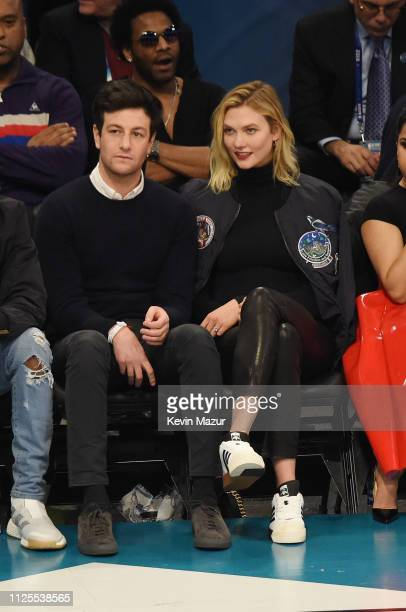 Joshua Kushner and Karlie Kloss attend the 68th NBA AllStar Game at Spectrum Center on February 17 2019 in Charlotte North Carolina
