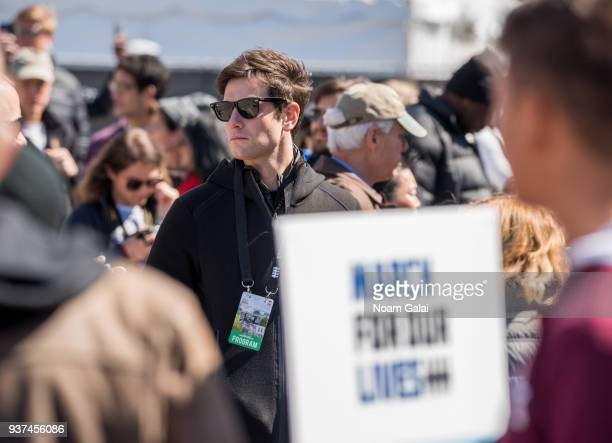 Joshua Kushner is seen during March For Our Lives on March 24 2018 in Washington DC