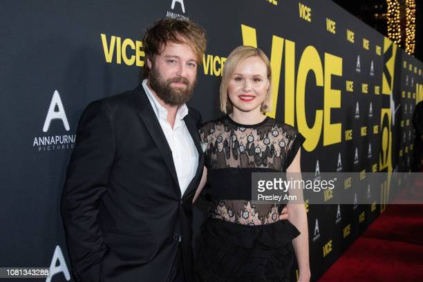 Joshua Leonard and Alison Pill attend Annapurna Pictures Gary Sanchez Productions And Plan B Entertainment's World Premiere Of 'Vice' at AMPAS Samuel...