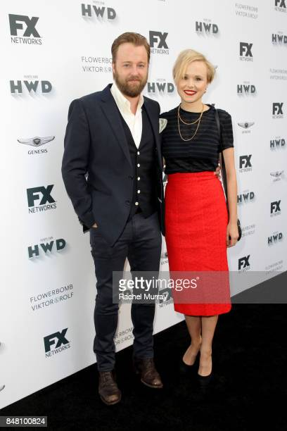 Joshua Leonard and Alison Pill attend FX Networks celebration of their Emmy nominees in partnership with Vanity Fair at Craft on September 16 2017 in...