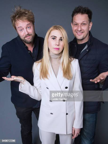 Joshua Leonard, Zosia Mamet, and Josh Charles pose for a portrait during the Jury Welcome Lunch - 2018 Tribeca Film Festival at Tribeca Film Center...