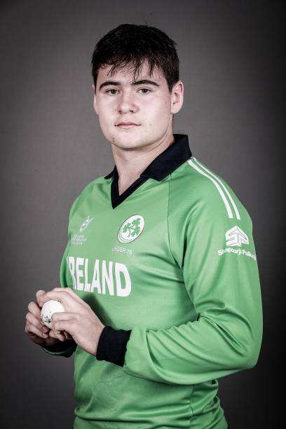 Joshua Little poses during the Ireland ICC U19 Cricket World Cup Headshots Session at Rydges Christchurch on January 8 2018 in Christchurch New...
