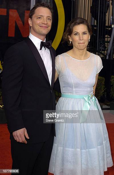 Joshua Malina and Melissa Merwin during 10th Annual Screen Actors Guild Awards Arrivals at Shrine Auditorium in Los Angeles California United States