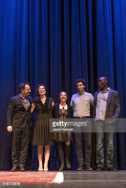 Joshua Malina, Jane Kaczmarek, Joanne Whalley, Alex Karpovsky and Lance Reddick attend the Selected Shorts 2016: Dangers And Discoveries at the Getty...