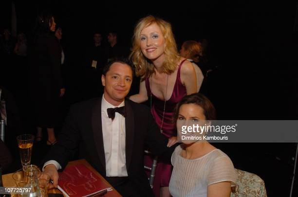 Joshua Malina Janel Moloney and Melissa Merwin during 10th Annual Screen Actors Guild Awards Backstage and Audience at Shrine Auditorium in Los...