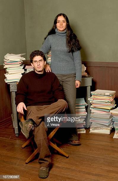 Joshua Marston and Catalina Sandino Moreno during 2004 Sundance Film Festival Maria Full of Grace Portraits at HP Portrait Studio in Park City Utah...
