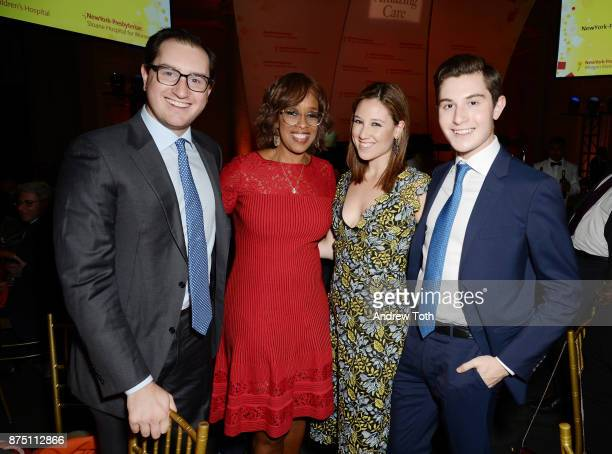 Joshua Milstein TV personality Gayle King Toby Milstein and Laurence Milstein attend NewYorkPresbyterian Hospital's Amazing Kids Amazing Care dinner...