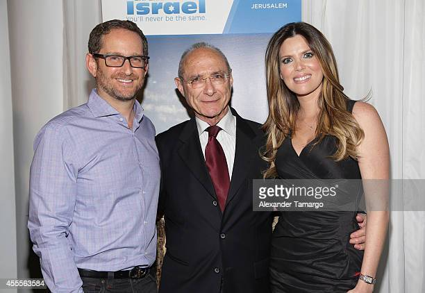 Joshua Mintz Uzi Landau and Maritza Rodriguez attend The Israel Ministry of Tourism Reception at Briza on the Bay on September 16 2014 in Miami...