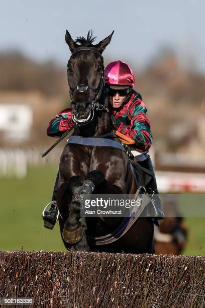Joshua Moore riding San Pedro De Senam clear the last to win The Read Barry Geraghty's Blog On attheracescom Novices' Steeple Chase at Plumpton...