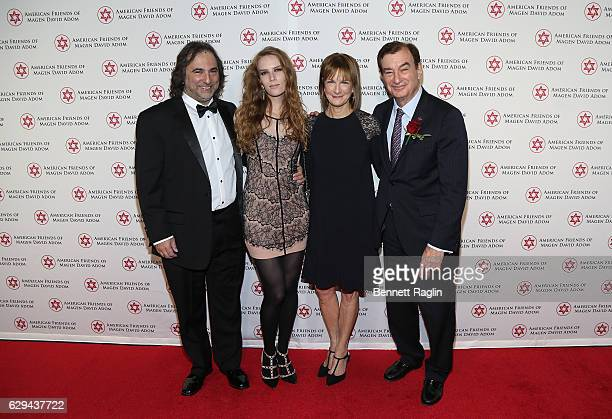 Joshua Newton Charlotte Kirk Patricia Harris and Mark Lebow attend the American Friends Of Magen David Adom New York Gala on December 12 2016 in New...