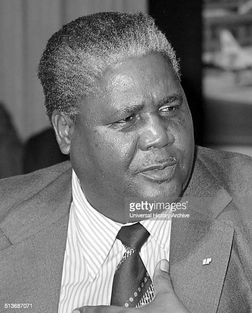 Joshua Nkomo leader and founder of the Zimbabwe African People's Union Fearing for his life Nkomo fled the country before ZAPU to merged with ZANU