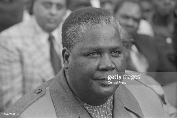 Joshua Nkomo leader of the ZAPU following the breakdown of talks with Rhodesian Prime Minister Ian Smith March 1976