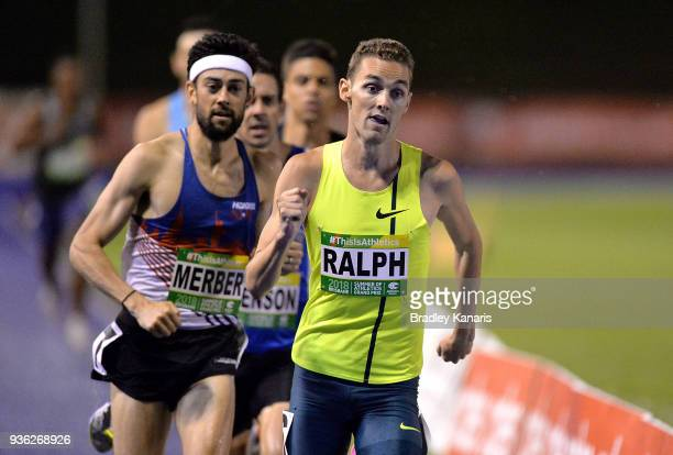 Joshua Ralph competes in the Men's 800m event during the Summer of Athletics Grand Prix at QSAC on March 22 2018 in Brisbane Australia