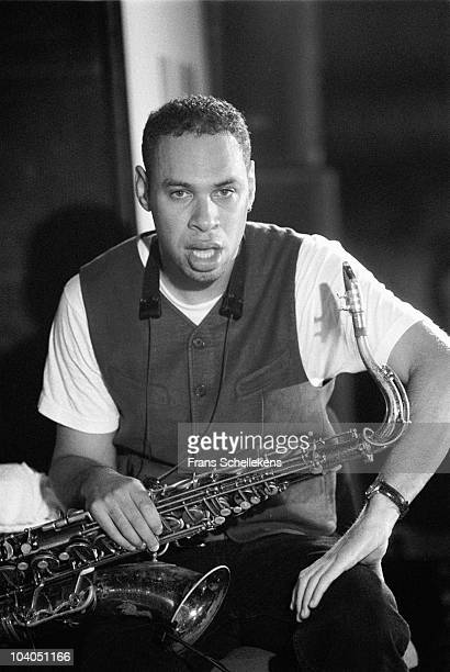 Joshua Redman poses for a portrait at The North Sea Jazz Festival on July 16 1995 in The Hague, Netherlands.