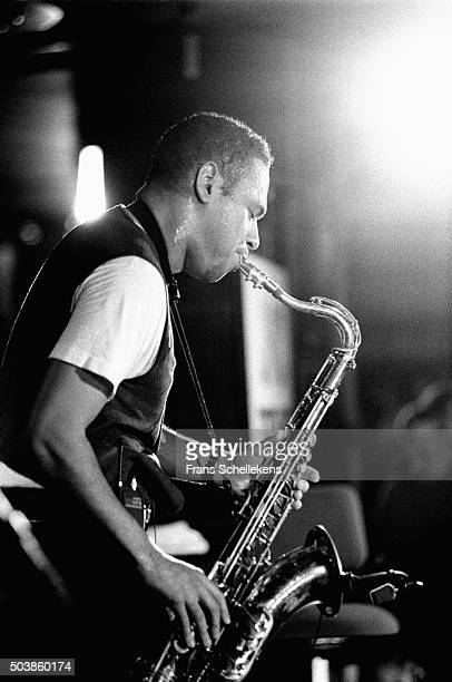 Joshua Redman, tenor saxophone, performs on July 16th 1995 at the North Sea Jazz Festival in the Hague, the Netherlands.