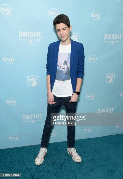 Joshua Rush attends a special Los Angeles screening of BYUtv's new series Dwight In Shining Armor at Pacific Theatres at The Grove on March 14 2019...