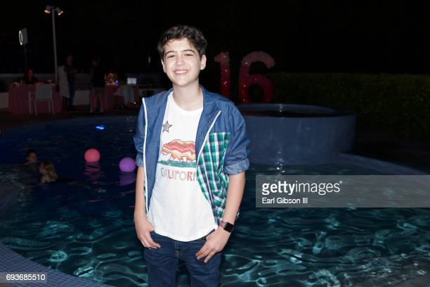 Joshua Rush attends Chloe Lukasiak's Sweet Sixteen Pool Party on June 7 2017 in Los Angeles California
