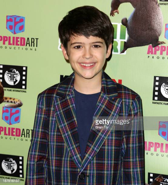 Joshua Rush attends 'Delhi Safari' Los Angeles premiere at Pacific Theatre at The Grove on December 3 2012 in Los Angeles California