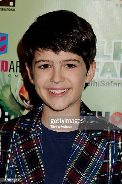 Joshua Rush attends the Delhi Safari Los Angeles premiere at Pacific Theatre at The Grove on December 3 2012 in Los Angeles California