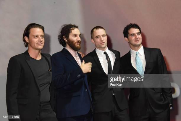 Joshua Safdie Ben Safdie Robert Pattinson and Oscar Boyson attend Tribute to Robert Pattinson the 43rd Deauville American Film Festival at CID on...