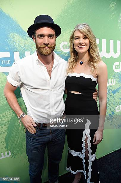Joshua Sasse and Tori Anderson attend The CW Network's 2016 Upfront at The London Hotel on May 19 2016 in New York City
