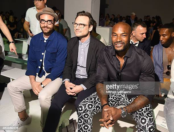 Joshua Sasse, Tyson Beckford and Christian Slater attend the Todd Snyder fashion show during New York Fashion Week: Men's S/S 2016 at Skylight...